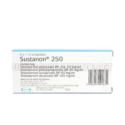 Sustanon 250 - 250mg/amp. - England