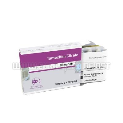 Tamoxifen Citrate - 20mg/tab (50 tabs) - Primus Ray Laboratories