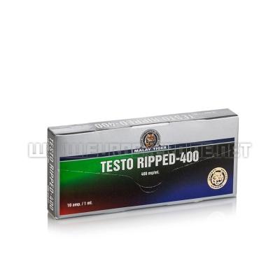 Testo Ripped-400 - 400mg/ml (10amp) - Malay Tiger