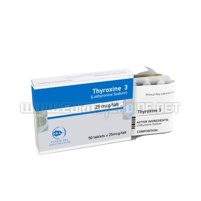 Thyroxine 3 - 25mcg/tab (50tabs) - Primus Ray Laboratories